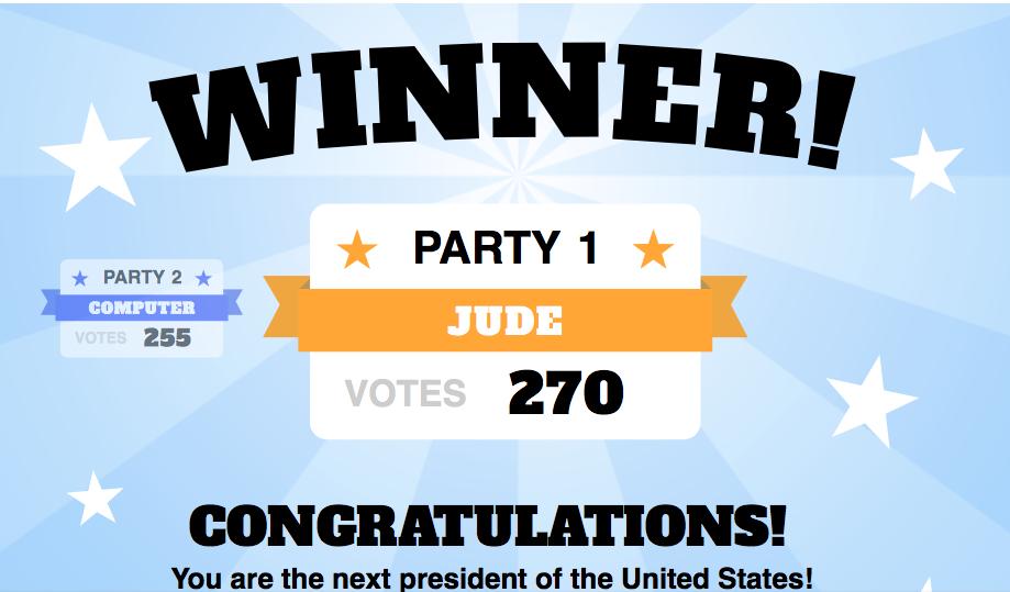 Electoral College Game 1