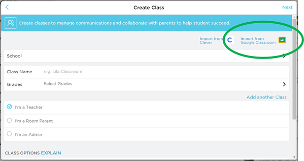 Create Class with Google Classroom