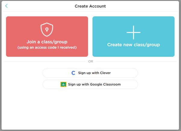 Create Account with Google Classroom