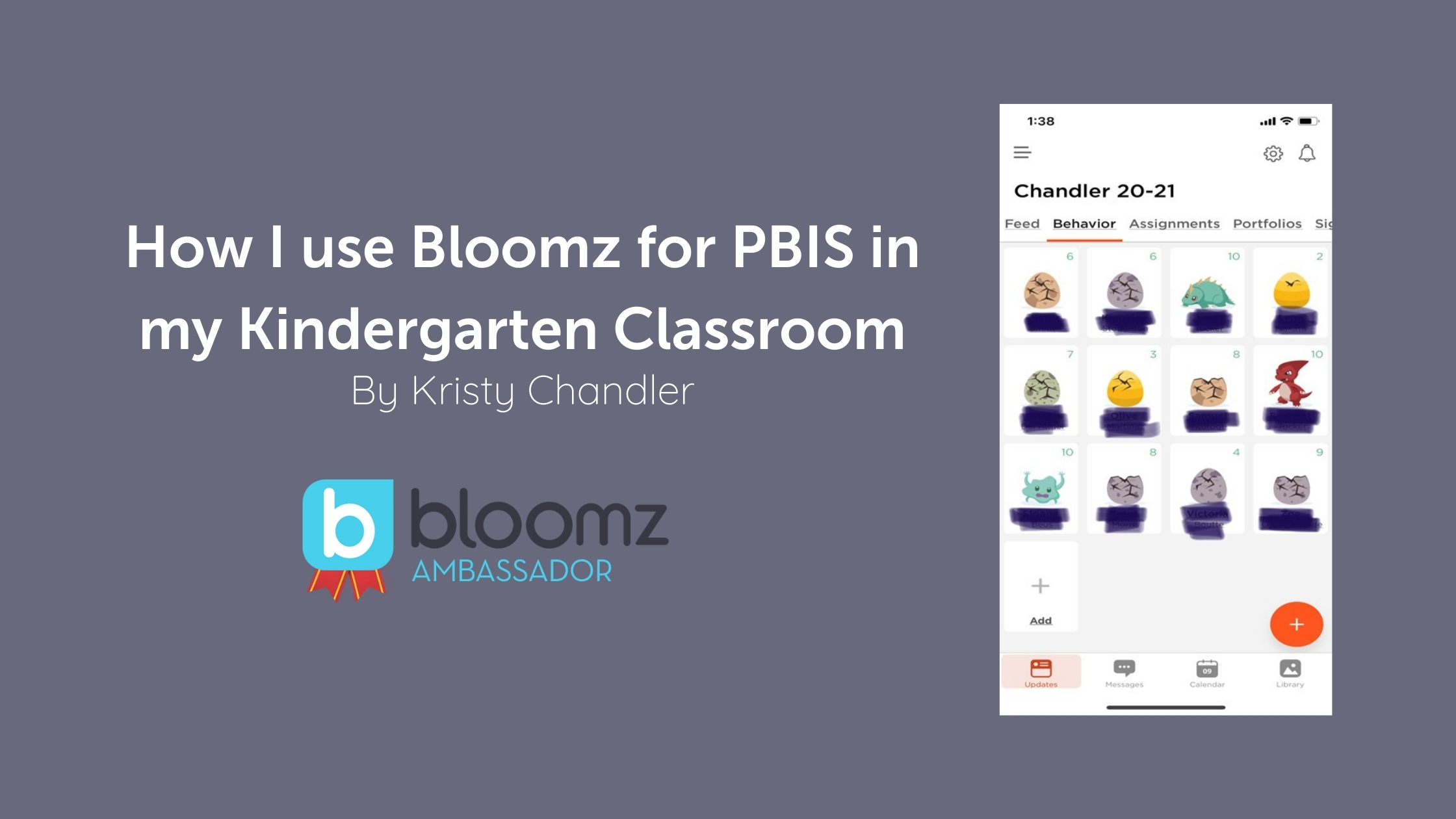 How I use Bloomz for PBIS in my Kindergarten Classroom