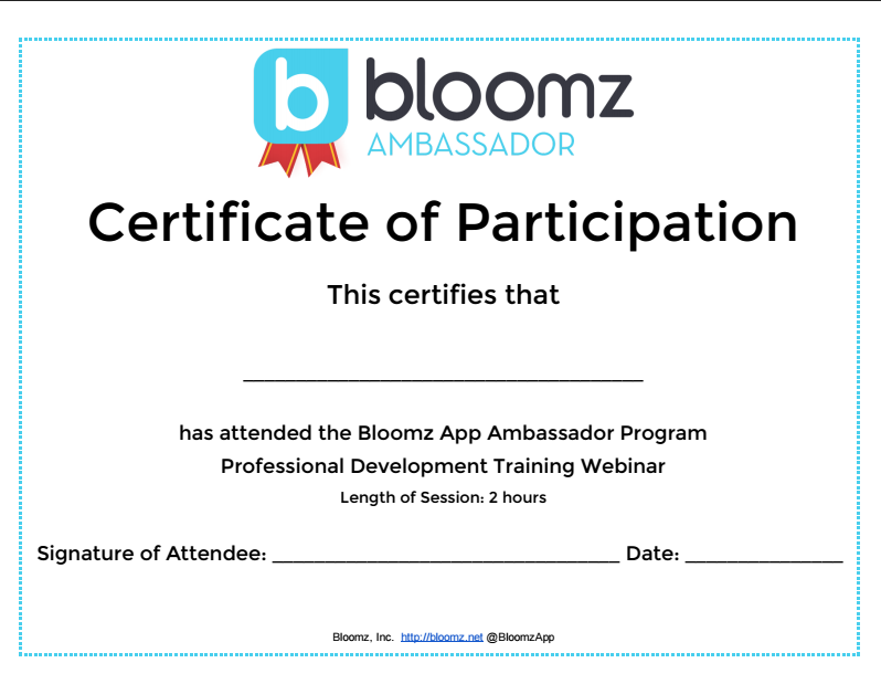 Proving Professional Development with Bloomz