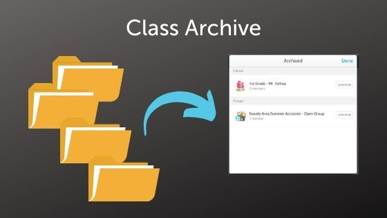 New! Class Archive and More