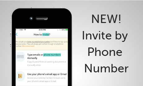 More Options with Invite by Phone Number!