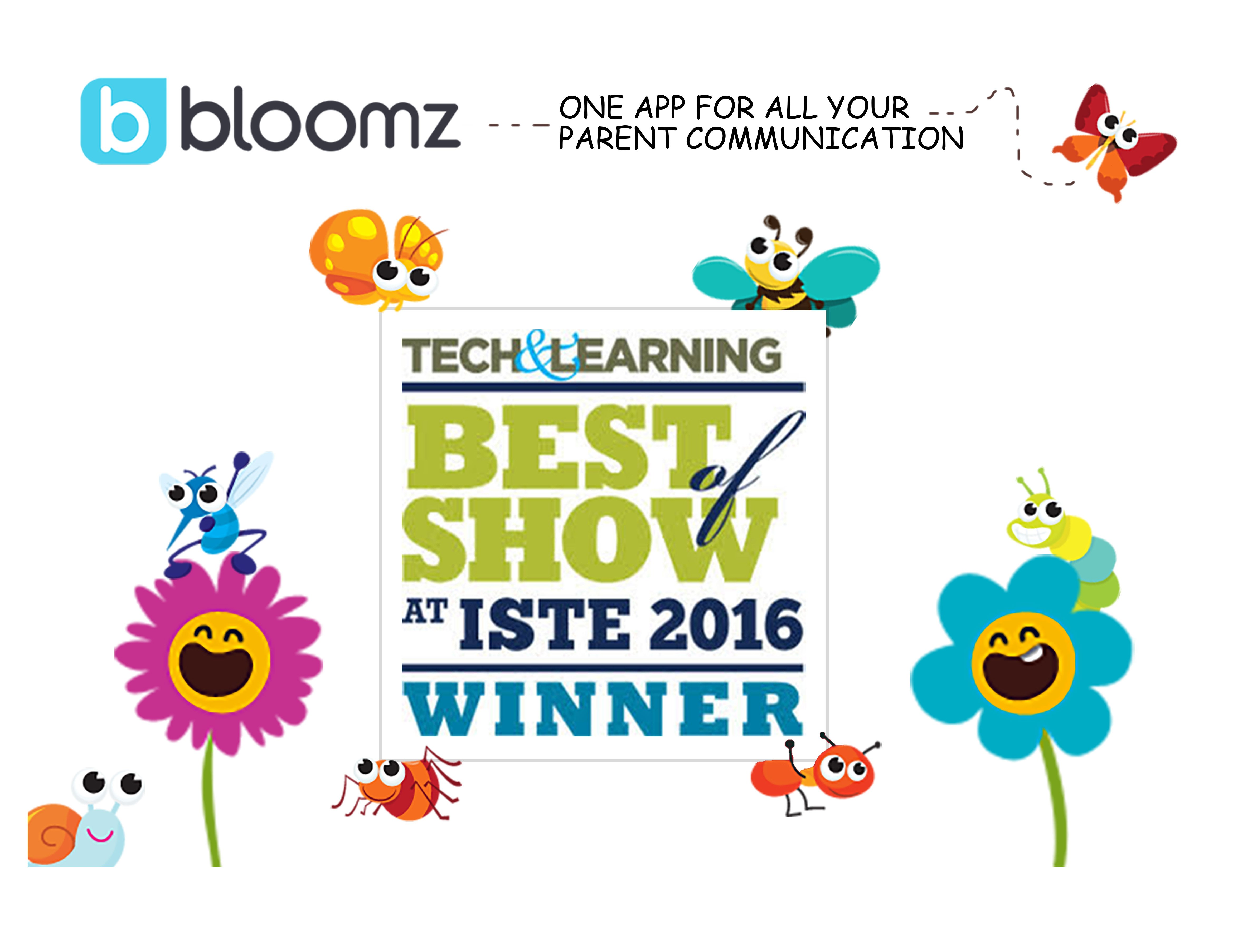 Bloomz Wins Best of Show at ISTE 2016 by Tech & Learning