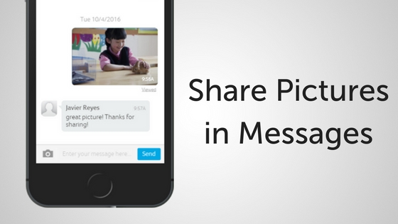 Send Photos Within Messages!
