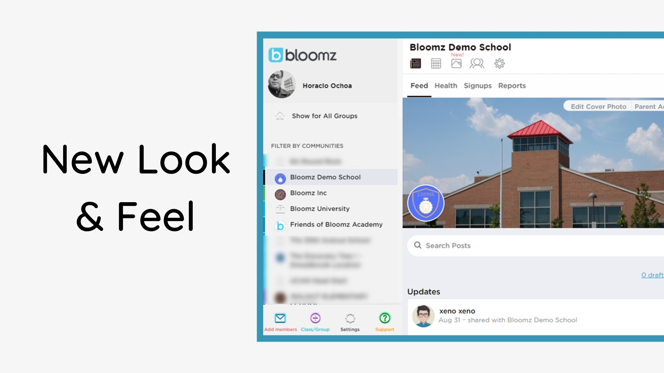 New Look on the Bloomz Web App!