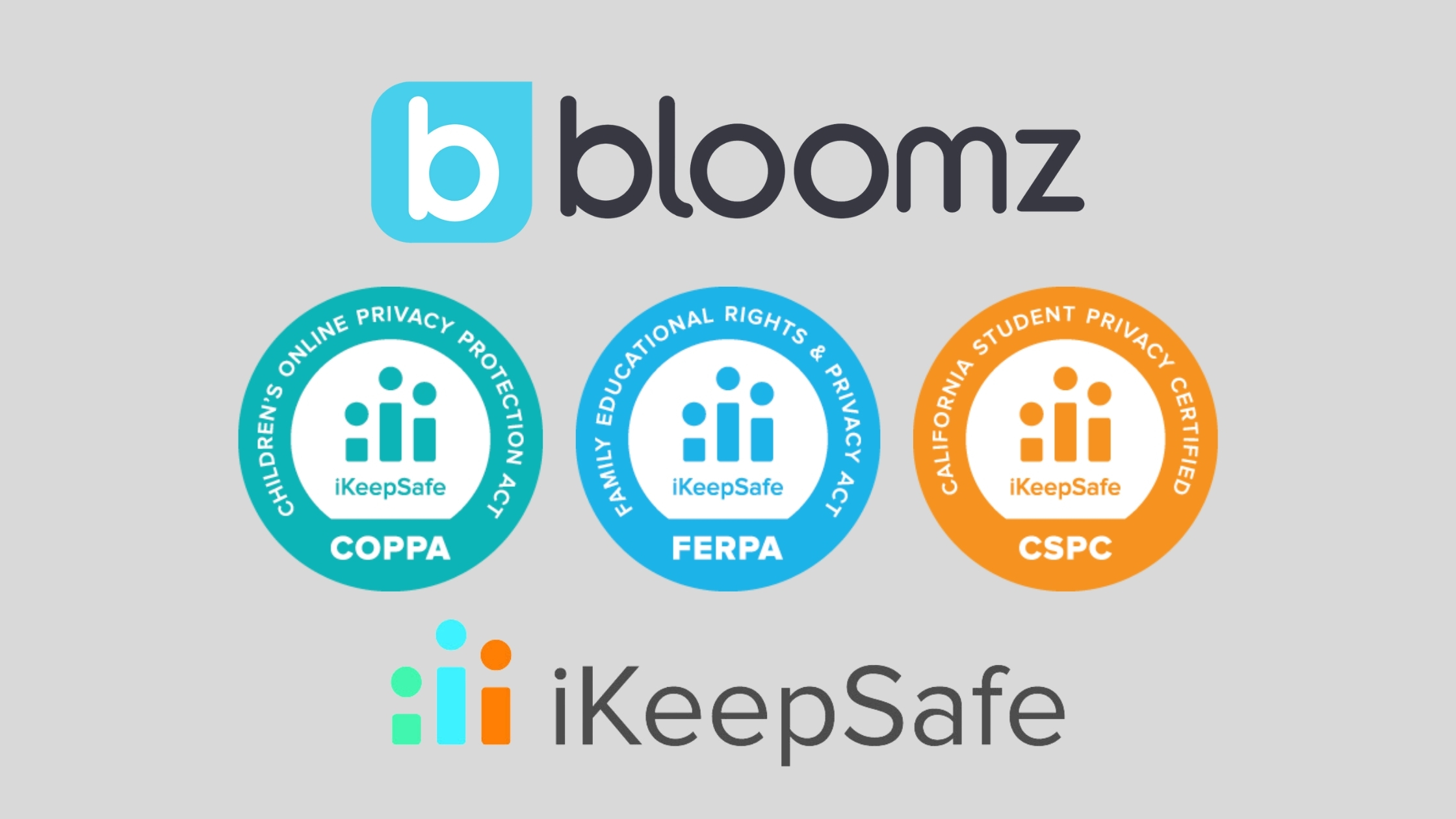 Bloomz EarnsiKeepSafeCOPPA Safe Harbor, FERPA, and California Student Data Privacy Certifications